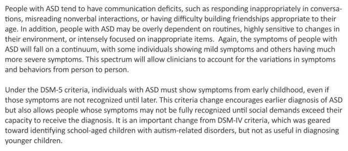 dsm5 autism